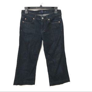 7 For All Mankind Cropped Straight Leg Jeggings